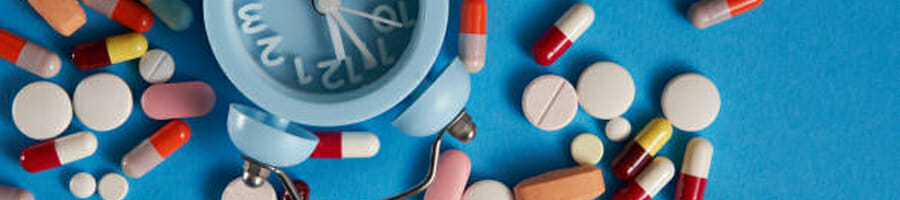 Different supplements surrounding the clock