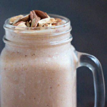 A healthy caffeinated protein shake