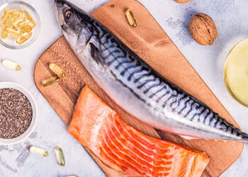 Sources of omega 3 and a salmon fish