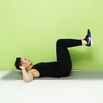 man in a reverse crunch position